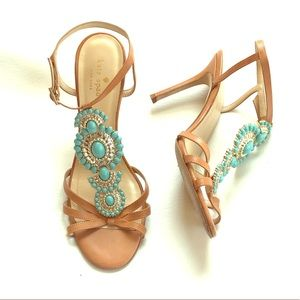 Kate Spade Turquoise Shoes Heels Sandals